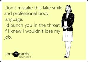 fake smile